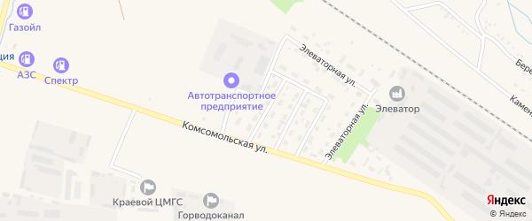 Юбилейная улица на карте Горняка с номерами домов
