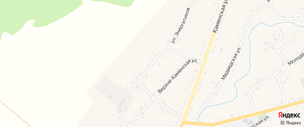 Улица Энергетиков на карте села Тюменцево с номерами домов