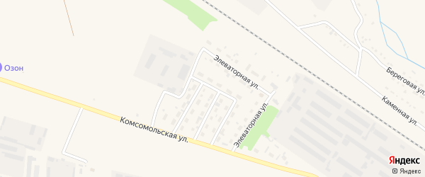 Улица Автомобилистов на карте Горняка с номерами домов