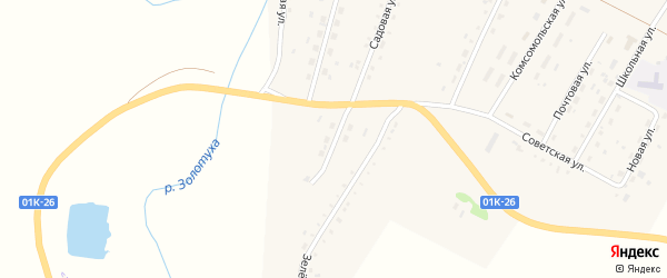 Придорожная улица на карте Кировского поселка с номерами домов