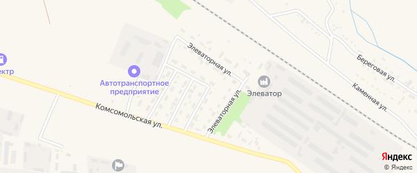 Элеваторная улица на карте Горняка с номерами домов
