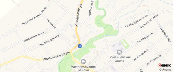 Заречная улица на карте села Тюменцево с номерами домов