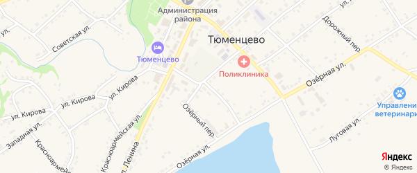 Коммунальный переулок на карте села Тюменцево с номерами домов