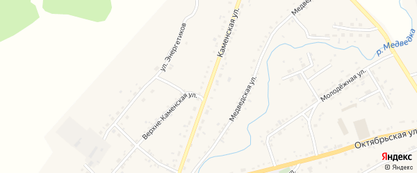 Каменская улица на карте села Тюменцево с номерами домов