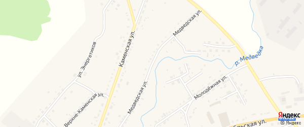 Медведская улица на карте села Тюменцево с номерами домов