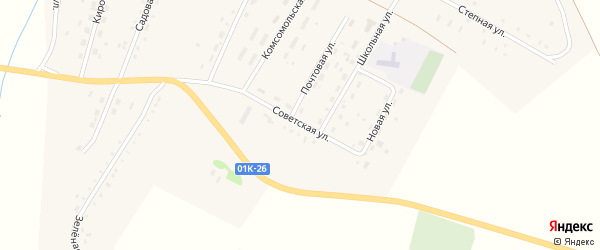 Советская улица на карте Кировского поселка с номерами домов