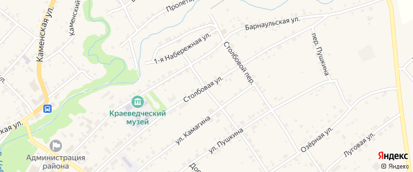 Столбовая улица на карте села Тюменцево с номерами домов