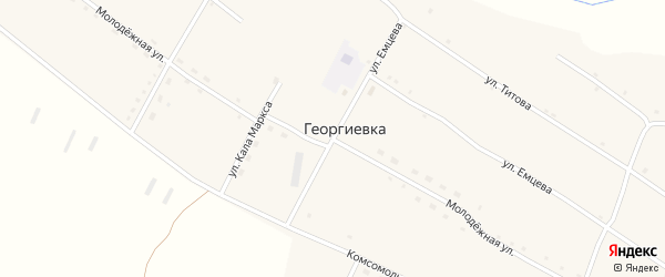 Молодежная улица на карте села Георгиевки с номерами домов