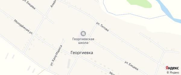 Улица Емцева на карте села Георгиевки с номерами домов