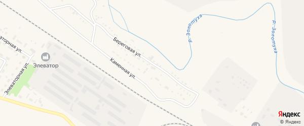 Каменная улица на карте Горняка с номерами домов