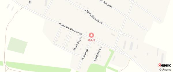 Комсомольская улица на карте села Георгиевки с номерами домов