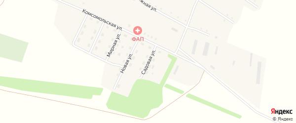 Садовая улица на карте села Георгиевки с номерами домов