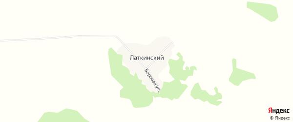 Карта Латкинского поселка в Алтайском крае с улицами и номерами домов