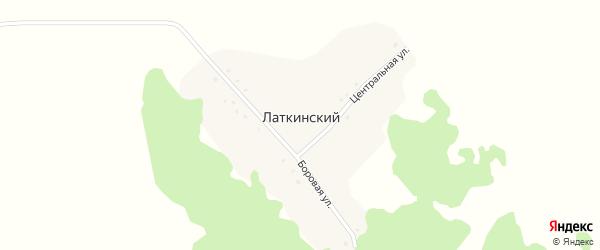 Центральная улица на карте Латкинского поселка с номерами домов