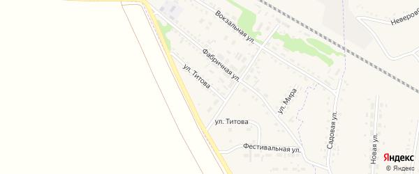 Улица Титова на карте Горняка с номерами домов