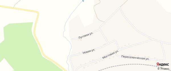 Луговая улица на карте села Аллака с номерами домов