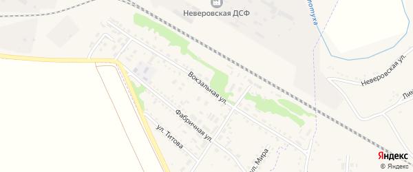 Вокзальная улица на карте Горняка с номерами домов