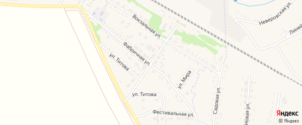 Станционный переулок на карте Горняка с номерами домов