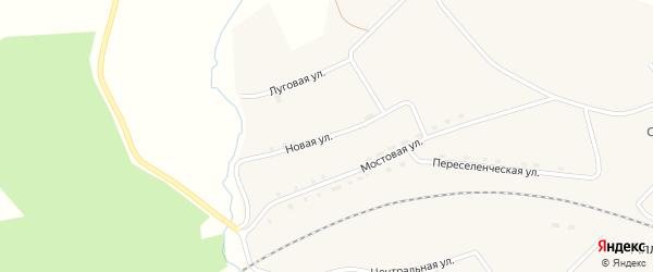 Новая улица на карте села Аллака с номерами домов