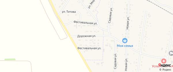 Дорожная улица на карте Горняка с номерами домов