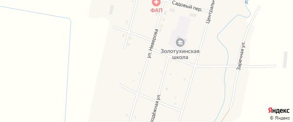 Улица Неверова на карте села Золотухи с номерами домов