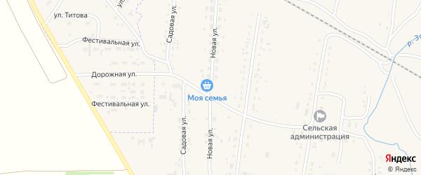 Новая улица на карте села Успенки с номерами домов