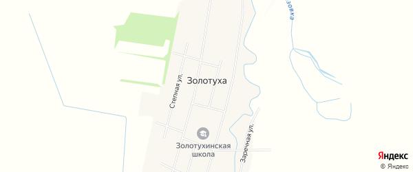 Карта села Золотухи в Алтайском крае с улицами и номерами домов