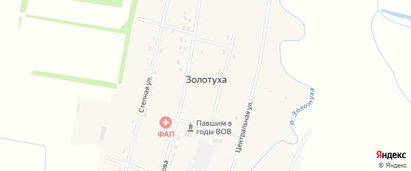 Садовый переулок на карте села Золотухи с номерами домов