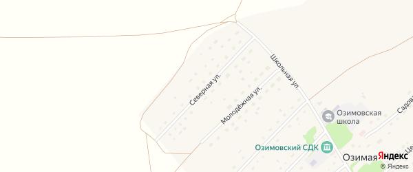 Северная улица на карте Озимой станции с номерами домов