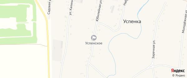 Юбилейная улица на карте села Успенки с номерами домов