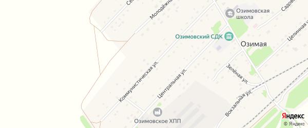 Коммунистическая улица на карте Озимой станции с номерами домов