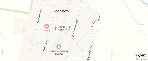 Центральная улица на карте села Золотухи с номерами домов
