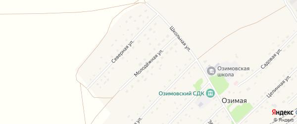 Молодежная улица на карте Озимой станции с номерами домов