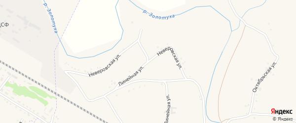 Неверовская улица на карте села Успенки с номерами домов