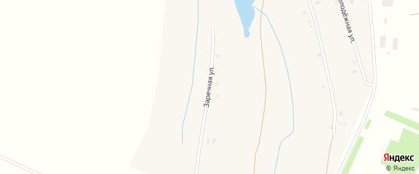 Заречная улица на карте села Вишневки с номерами домов