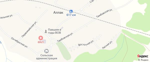 Тамбовская улица на карте села Аллака с номерами домов