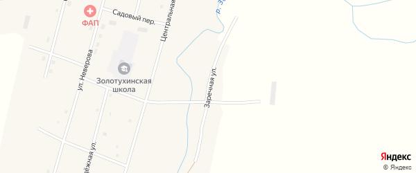Заречная улица на карте села Золотухи с номерами домов
