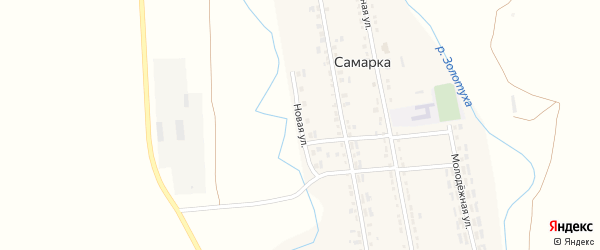 Новая улица на карте села Самарки с номерами домов