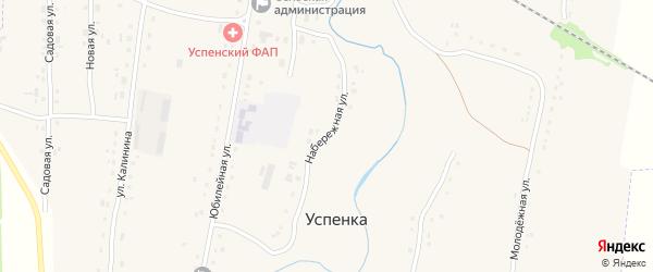 Набережная улица на карте села Успенки с номерами домов