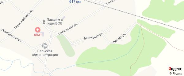 Восточная улица на карте села Аллака с номерами домов