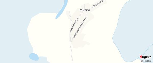 Карта поселка Мыски в Алтайском крае с улицами и номерами домов