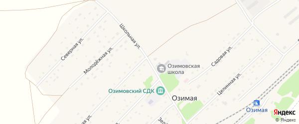 Школьная улица на карте Озимой станции с номерами домов