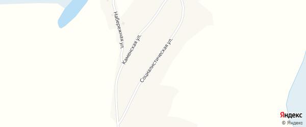 Социалистическая улица на карте поселка Мыски с номерами домов