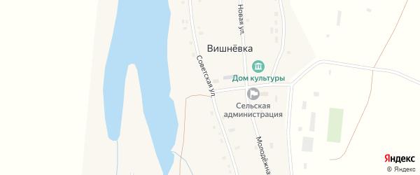 Советская улица на карте села Вишневки с номерами домов