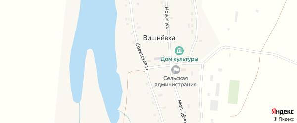 Советская улица на карте разъезда Зарницы с номерами домов