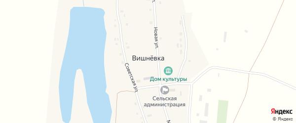 Луговая улица на карте села Вишневки с номерами домов