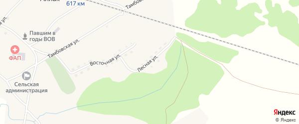 Лесная улица на карте села Аллака с номерами домов