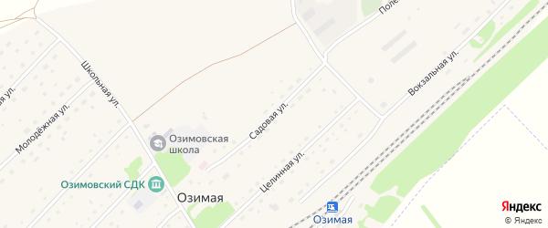 Садовая улица на карте Озимой станции с номерами домов