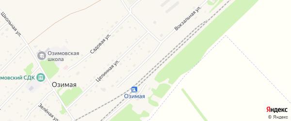 Вокзальная улица на карте Озимой станции с номерами домов