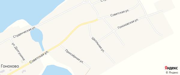 Обская улица на карте села Гонохово с номерами домов